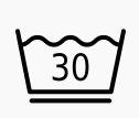 Schonwaschgang. Textil darf im Schonwaschgang bei maximal 30° gewaschen werden. Trommel maximal bis zur Hälfte füllen. Schonschleudern.